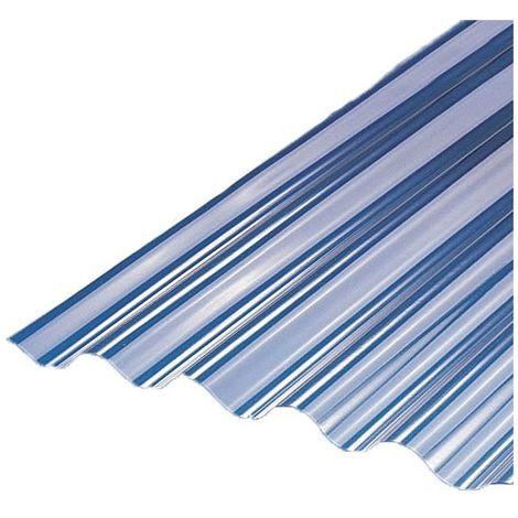 Plaque PVC micro ondulation (MO 32/9) - Coloris - Transparent, Largeur totale de la plaque - 75cm, Longueur totale de la plaque - 2m
