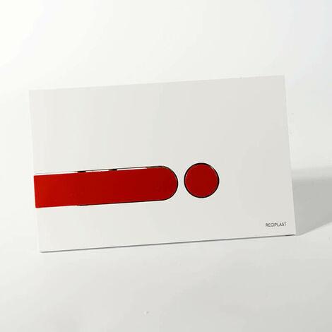 Plaque rectangulaire blanche + Kit couleurs pour bâti-support