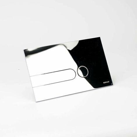 Plaque rectangulaire chromée brillante + Kit couleurs pour bâti-support