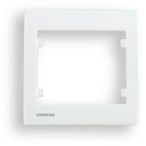 Plaque Simple Blanc Delta IRIS - SIEMENS