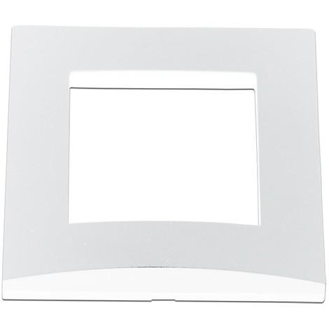 Plaque simple blanche 1 poste bord biseauté pour appareilllage mural AE ALTERNATIVE ELEC AE51001