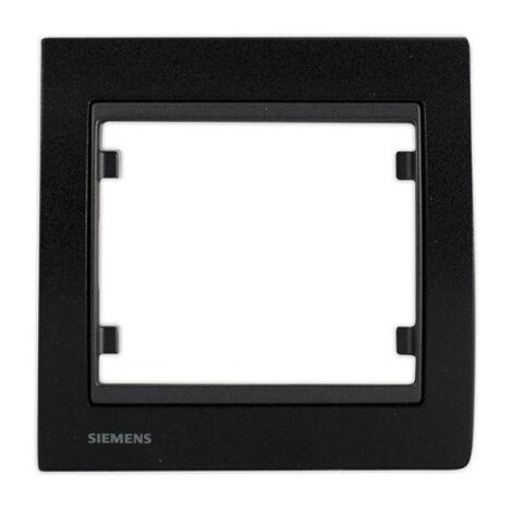 Plaque Simple Métal Noir DELTA IRIS SIEMENS - SIEMENS