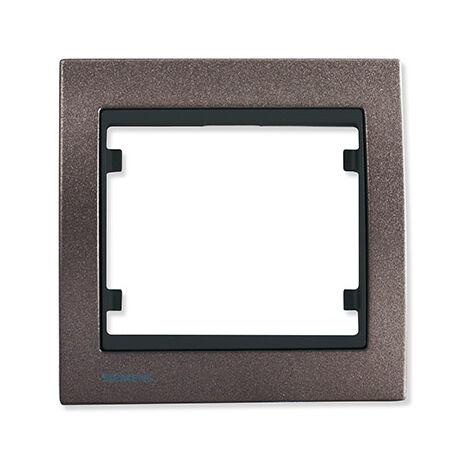 Plaque simple métal texturé Moca Delta IRIS - SIEMENS