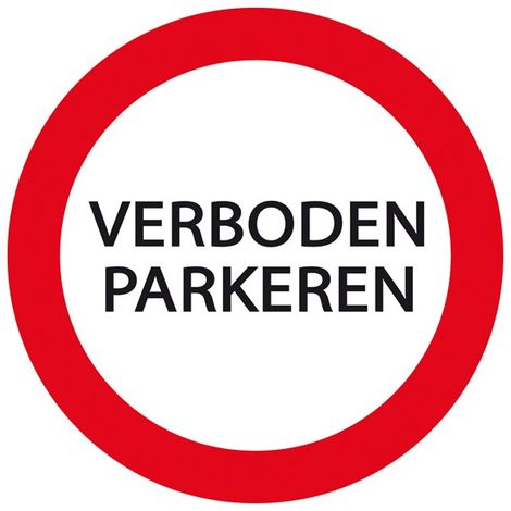 Plaque Stationnement Interdit Ø 24cm