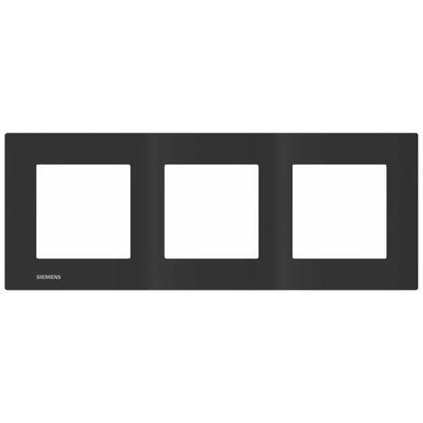 Plaque Triple Anthracite Siemens DELTA VIVA - SIEMENS