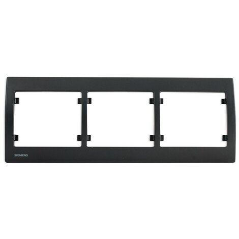 Plaque Triple Horizontale Anthracite Delta IRIS - SIEMENS