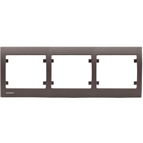 Plaque triple horizontale Soft Marron Delta IRIS SIEMENS - SIEMENS