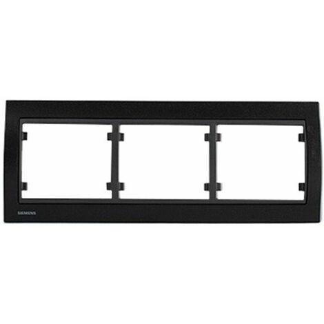 Plaque Triple Horizontale Texturé Noir DELTA IRIS SIEMENS - SIEMENS