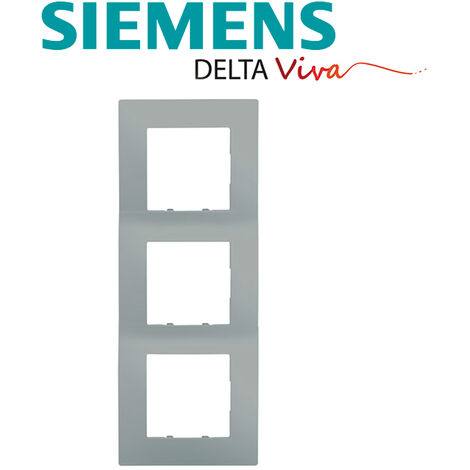 Plaque Triple Silver Siemens DELTA VIVA - SIEMENS