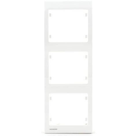 Plaque triple verticale Blanc Delta IRIS SIEMENS - SIEMENS