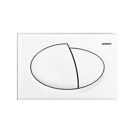 Plaque TWIST 2 touches, métal blanc
