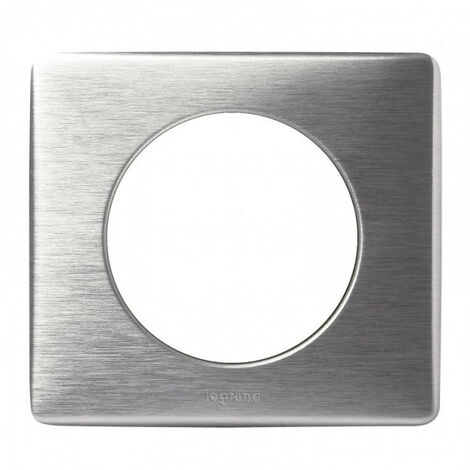 "main image of ""Plaque Céliane métal 1 poste - Finition aluminium - Legrand"""