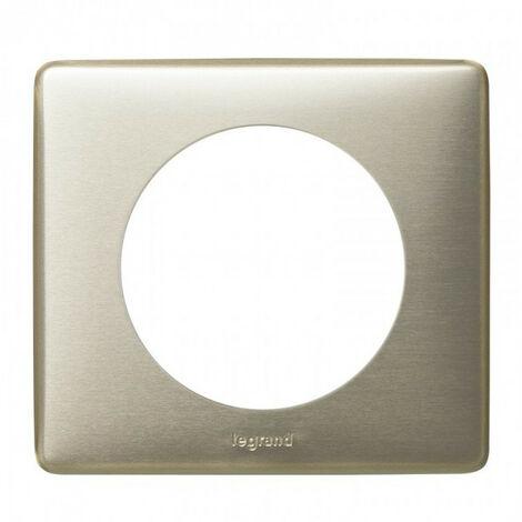 """main image of """"Plaque Céliane métal 1 poste - Finition titane - Legrand"""""""
