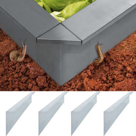 Plaques de clôture à escargots 4 pcs Acier 100x7x25 cm 0,7 mm