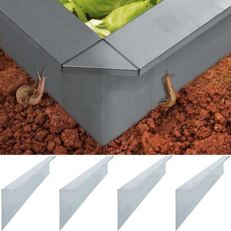 Plaques de Clôture à escargots 4 pcs Acier 150x7x25 cm 0,7 mm