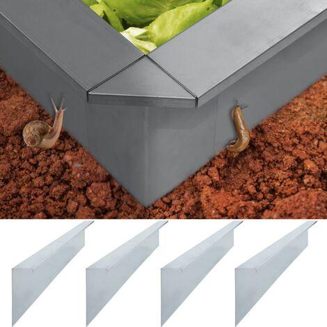 Plaques de clôture à escargots 4 pcs Acier 170x7x25 cm 0,7 mm