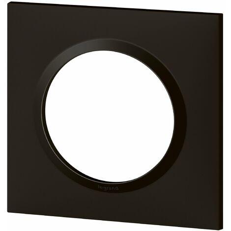 Plaque carrée Dooxie - Noir velours - 1 poste - Legrand