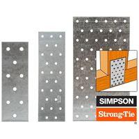 Plaques perforées en acier galvanisé NP (40 x 120 x 1,5 mm)