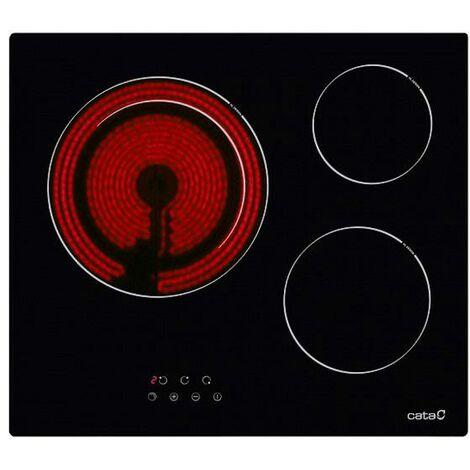 Plaques vitro-céramiques Cata TD6003 3F 5400W 59cm Noir