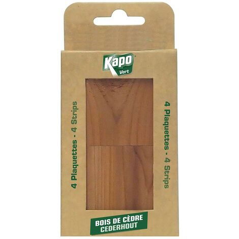 Plaquette au bois de cèdre x4 KAPO