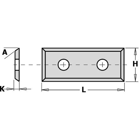 Plaquette carbure 50*9*1,5 - TS03-SMG - boite de 10 pieces