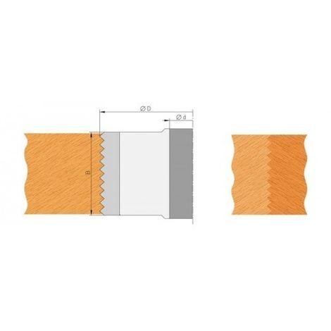 Plaquette carbure bouvetage dents de scie hauteur 50 mm (jeu de 2)