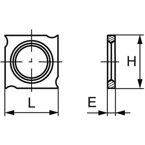 Plaquette carbure standard (araseurs) 18x18x2.45 mm (à l'unité)