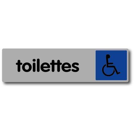 """main image of """"Plaquette de porte Toilettes avec logo handicapé - Plexiglas couleur 170x45mm - 4036731"""""""
