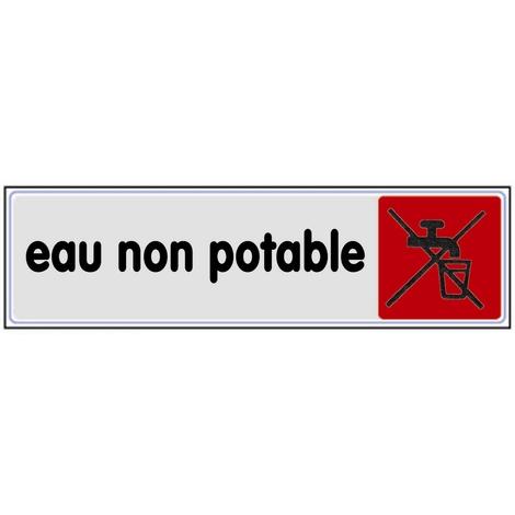 Plaquette Eau non potable - Plexiglas couleur 170x45mm - 4032856