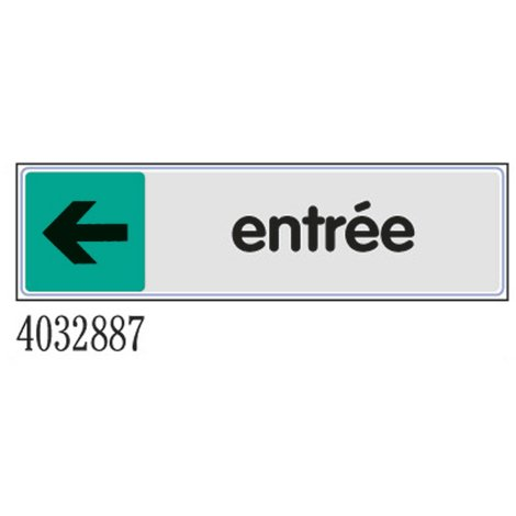 Plaquette Entrée flèche gauche - Plexiglas couleur 170x45mm - 4032887