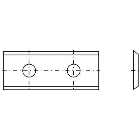 Plaquette réversible carbure K05 2 coupes 50 x 12 x 1,5 mm 35° - Diamwood - -