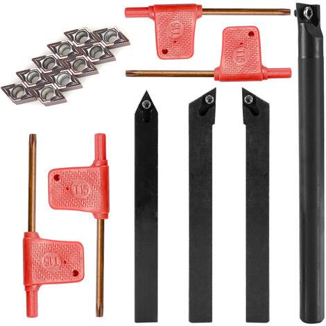 Plaquettes en carbure Jeu de cles pour barres d'alesage de tour Outils de tour 12mm