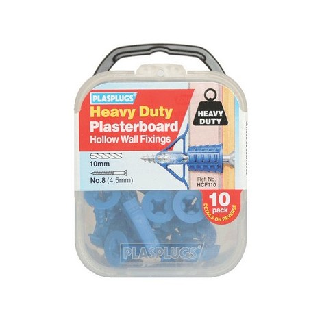 Plasplugs HCF110 Heavy-Duty Plasterboard Fixings (10)