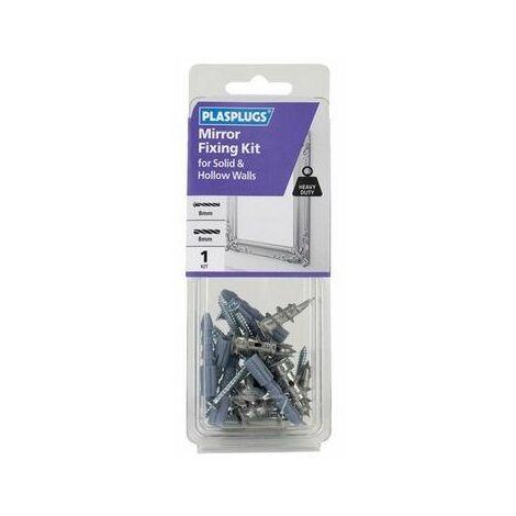 Plasplugs KMI102 Mirror Fixing Kit for Solid & Hollow Walls
