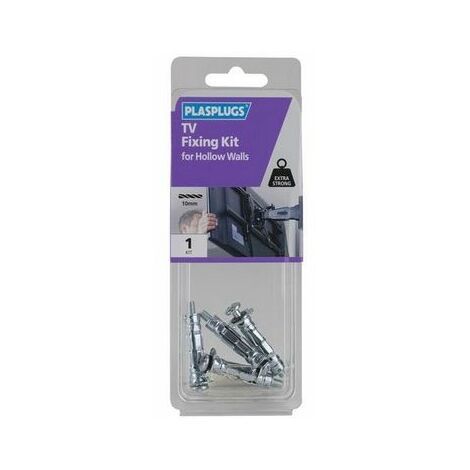 Plasplugs KTVS103 TV Fixing Kit for Solid Walls