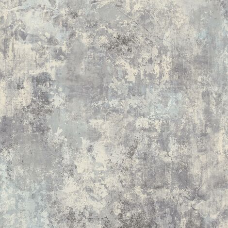 Plaster Light Grey Wallpaper Grandeco Industrial Concrete Effect Textured Vinyl