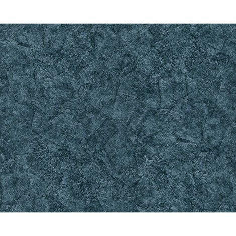 Plaster look wallpaper wall EDEM 9077-29 hot embossed non-woven wallpaper embossed beautiful shabby chic style shiny blue anthracite teal 10.65 m2 (114 ft2)