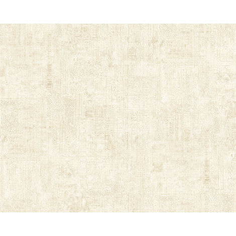 Plaster look wallpaper wall EDEM 9093-10 hot embossed non-woven wallpaper embossed beautiful shabby chic style shiny cream white 10.65 m2 (114 ft2)