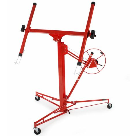 Plasterboard lifter - board lifter, plasterboard hoist, drywall lift - red