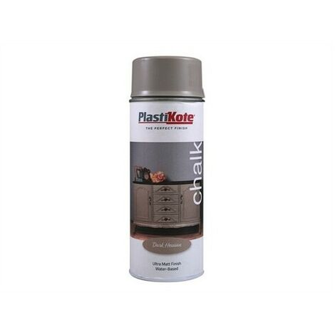 Plasti-kote PKT27102 Chalk Finish Spray Dark Hessian 400ml