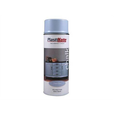 Plasti-kote PKT27103 Chalk Finish Spray Frost Blue 400ml