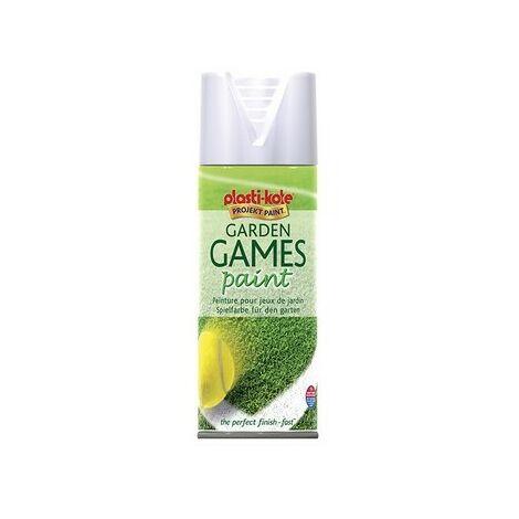 Plasti-Kote PKT4376 Garden Games Spray Paint White 400ml