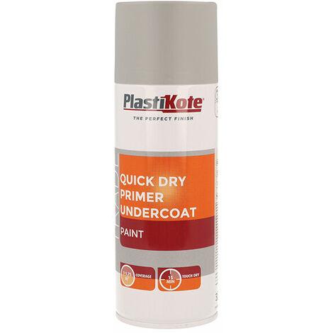 Plasti-Kote PKT71001 Trade Quick Dry Primer Spray Grey 400ml