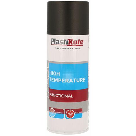 Plasti-Kote PKT71018 Trade High Temperature Spray Paint Black 400ml
