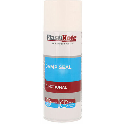 Plasti-Kote PKT71020 Trade Damp Seal Spray Paint White 400ml