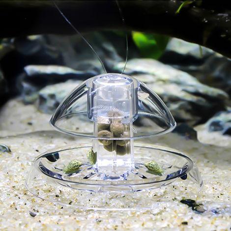 Plastic Clear Snail Trap Free Bait for Aquarium Fish Tank Plants Planarian Leech Catch Environment