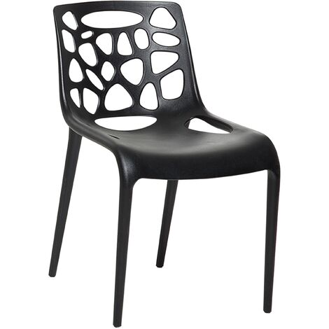 Plastic Dining Chair Black MORGAN