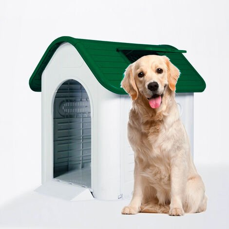 Plastic doghouse kennel large size indoor outdoor MOLLY