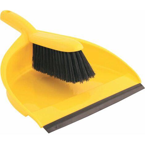 Plastic Dustpan and Brush Set