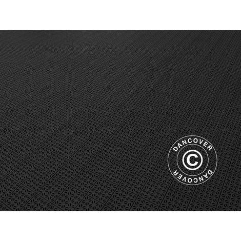 Plastic flooring Basic, Multiplate, Black, 1.23 m² (4 pcs.)